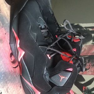 Air Jordan Retro 7 VII Black Orange & Grey Sz 12